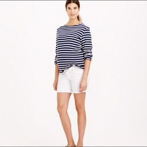 J.Crew maternity white denim shorts